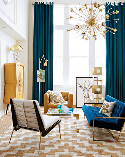 Contemporary Living Room by Jonathan Adler