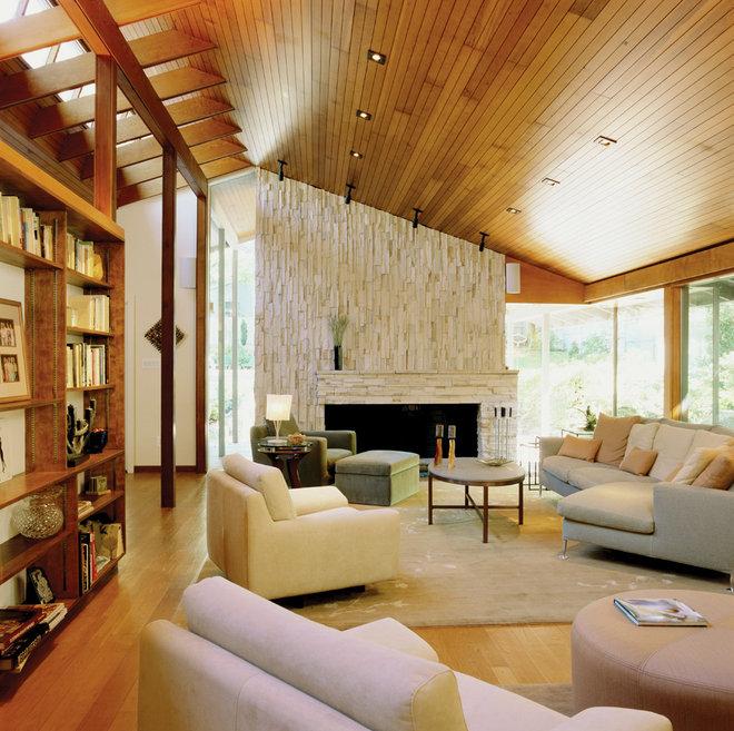 Contemporary living room by shinberg levinas architectural design
