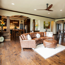 Transitional Living Room by Rautmann Custom Homes