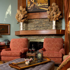 Traditional Living Room by Kelly Cruz Interiors