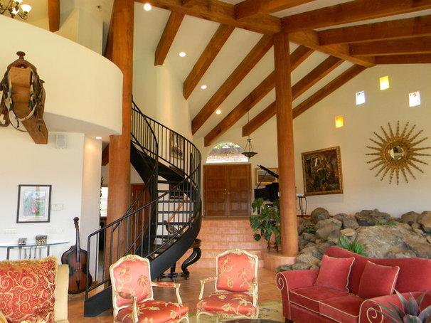 Mediterranean Living Room by Kimberley Bryan