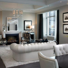 Contemporary Living Room by Electric Fireplaces Direct