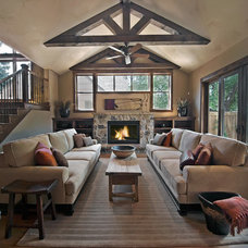 Rustic Living Room by Teri Fotheringham Photography