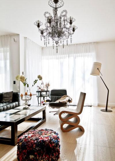 Contemporain Salon by FJ Interior Design