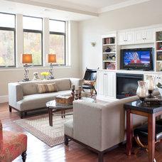 Eclectic Living Room by Haddad Hakansson Design Studio