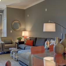 Contemporary Living Room by Dan Rak Design
