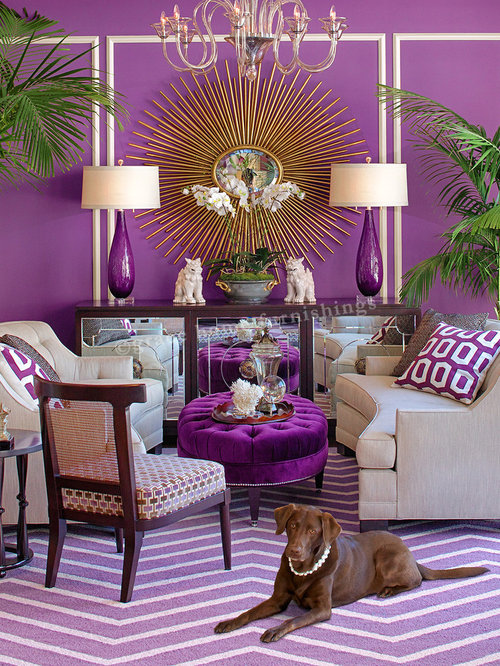 Purple living room home design ideas pictures remodel - Pictures of decorated living rooms ...