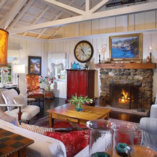 Eclectic Living Room by CCH Design Inc.