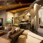 Cozy Library Contemporary Living Room Nashville By