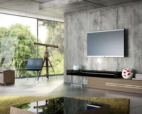 Modern tv stands houzz for B q living room units