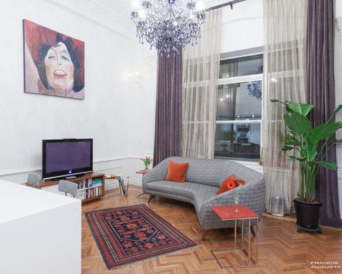Vintage Living Room   Houzz