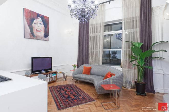 Eclectic Living Room by Marie Burgos Design
