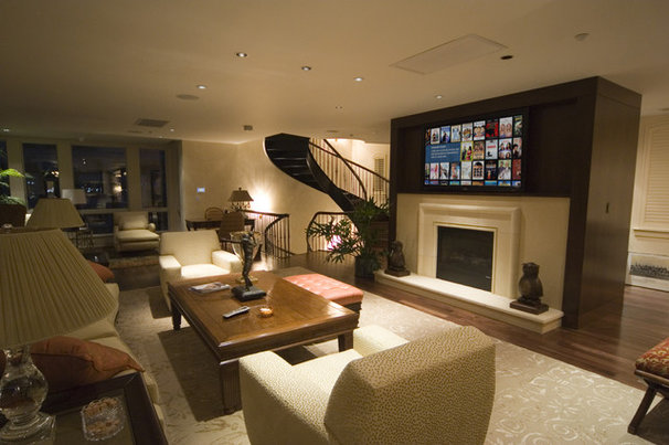 Contemporary Living Room by Gramophone