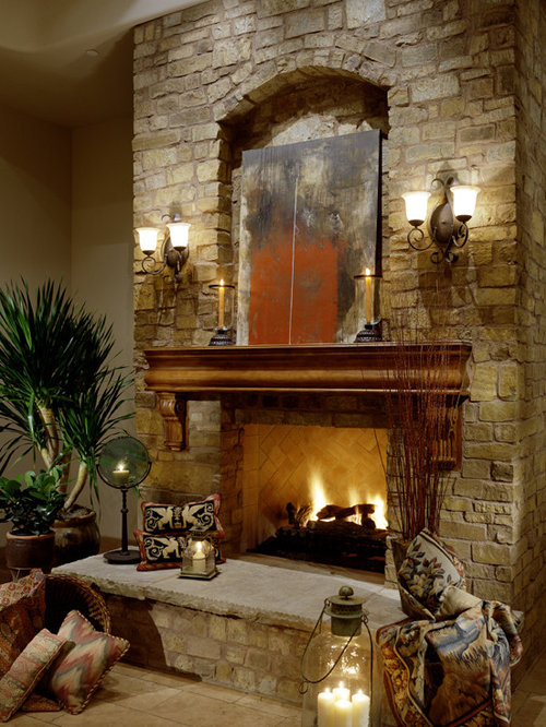 Million dollar homes home design ideas pictures remodel for Mediterranean fireplace designs