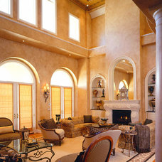 Mediterranean Living Room by Culbertson Durst Interiors