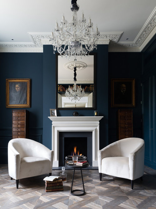 Victorian Drawing Room: Stiffkey Blue Home Design Ideas, Renovations & Photos