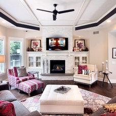 Transitional Living Room by Hard Topix LLC