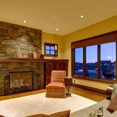 Craftsman Living Room by John Haddon Design