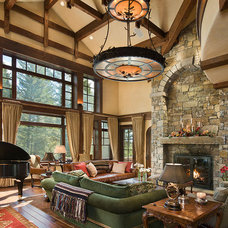 Traditional Living Room by Teton Heritage Builders