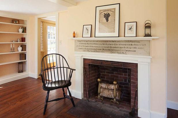 Farmhouse Living Room by Platt Builders