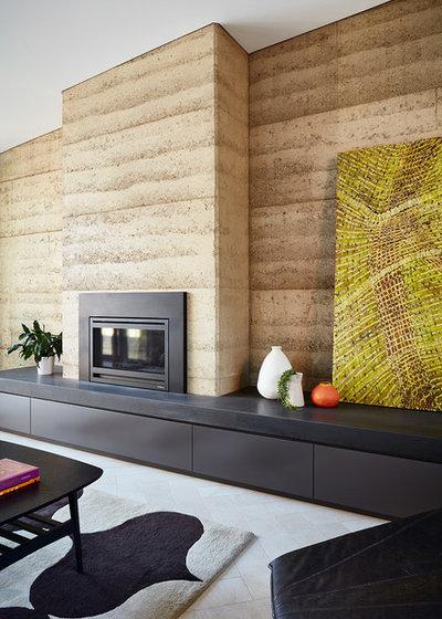 コンテンポラリー リビング by Bryant Alsop Architects