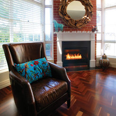 Traditional Living Room by EcoSmart Fire