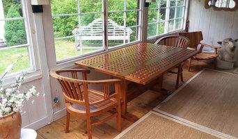 Grate Top Drop Leaf Table