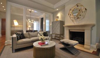 Gray Modern Townhouse Living Room