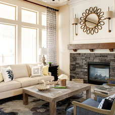Rustic Living Room by J & J Design Group, LLC.