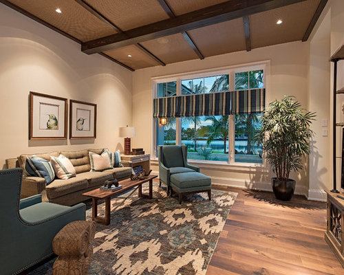 Blue and brown living room design ideas remodels photos houzz for Blue and brown living room designs