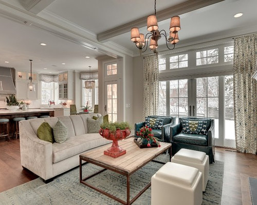 Example Of A Mid Sized Classic Open Concept Living Room Design In  Minneapolis