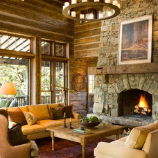 Rustic Living Room by On Site Management, Inc.