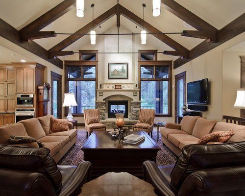 Furniture layout home design ideas pictures remodel and decor - Great lighting accessories for your living room ...