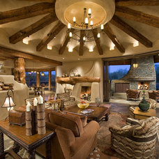 Rustic Family Room by Bess Jones Interiors