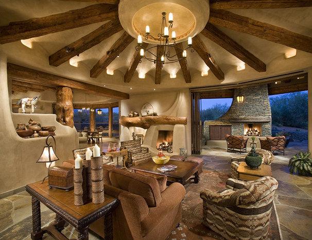 Southwestern Family Room by Bess Jones Interiors