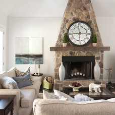 Transitional Living Room by Kim Bartley Design