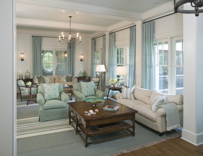 Traditional Living Room by Christopher A Rose AIA, ASID
