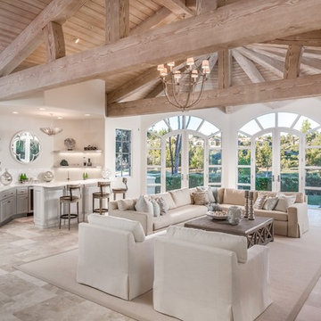 Great Room Design in Creams and Beiges
