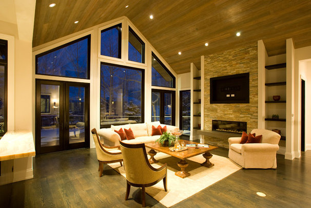 Rustic Living Room by Forum Phi - Architecture | Interiors | Planning