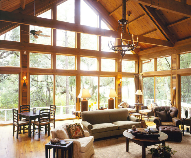Rustic Living Room by Frederick + Frederick Architects