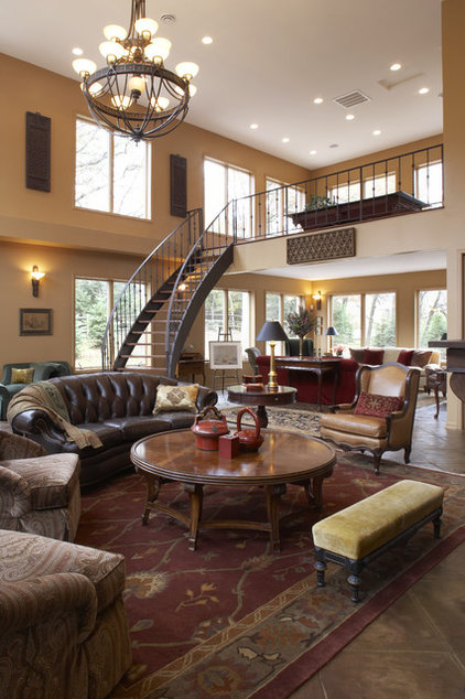 Traditional Living Room by Gabberts Design Studio