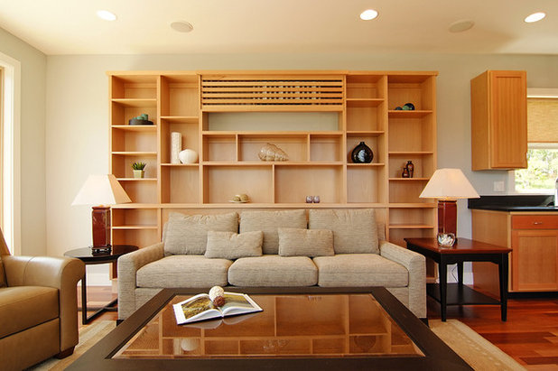 Contemporary Living Room by Hood River reDesign