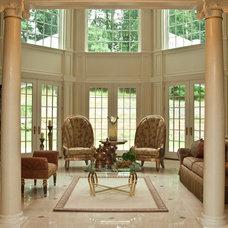 Mediterranean Living Room by I and I Designs LLC