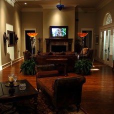 Traditional Living Room by JOHN DANCEY Custom Designing/Remodeling/Building
