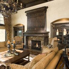 Traditional Living Room by John Kraemer & Sons