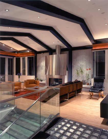 Modern Living Room by Kappe Architects