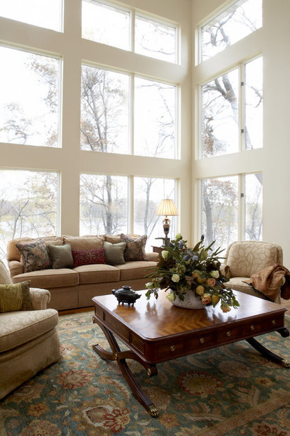 Traditional Living Room by Karen Hodgdon, Allied ASID