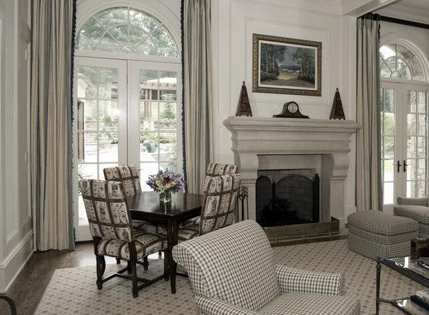Traditional Living Room by Kemp Hall Studio