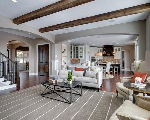 SaveEmail - Exposed Wood Beam Ceiling Houzz