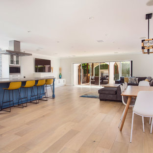 Great room kitchen and living area remodeling in Sherman Oaks